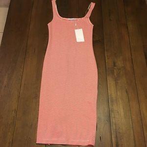 Zara Trafaluc red striped dress Size Small